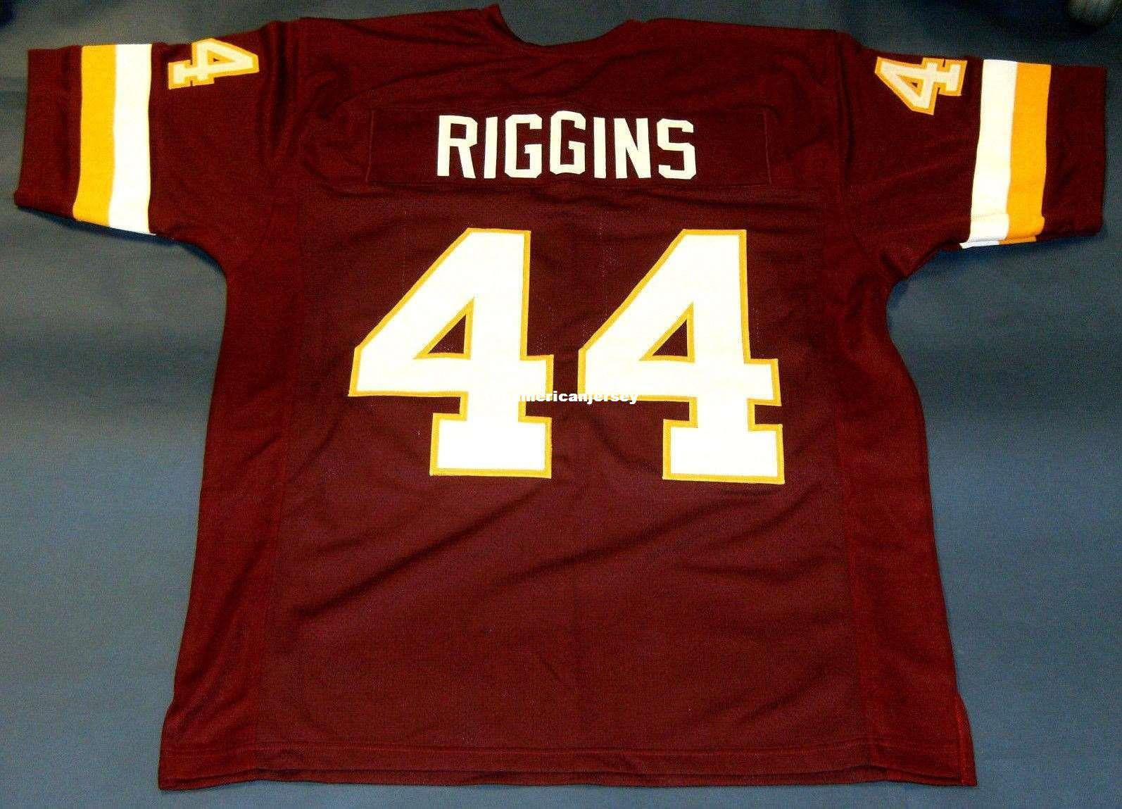 quality design 15e7c 4ceaf Cheap retro #44 JOHN RIGGINS CUSTOM MITCHELL & NESS Jersey wine red Mens  Stitching Top S-5XL,6XL Football Jerseys Running