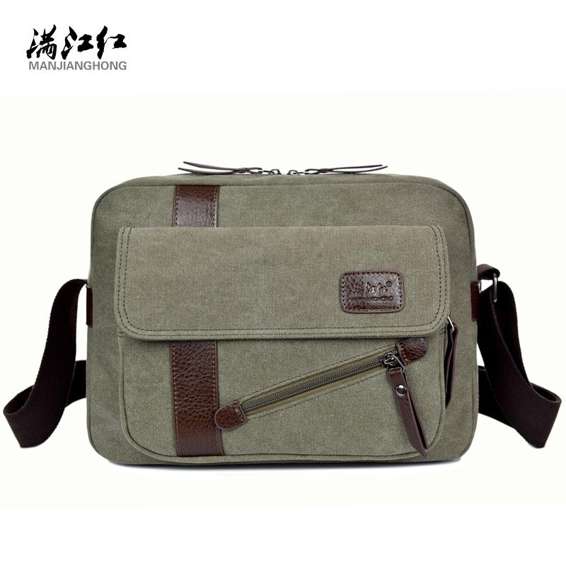 Men's Fashion Canvas Business Travel Shoulder Bags Male Korean Style Messenger Bags Briefcase Handbags Crossbody Bags For Man