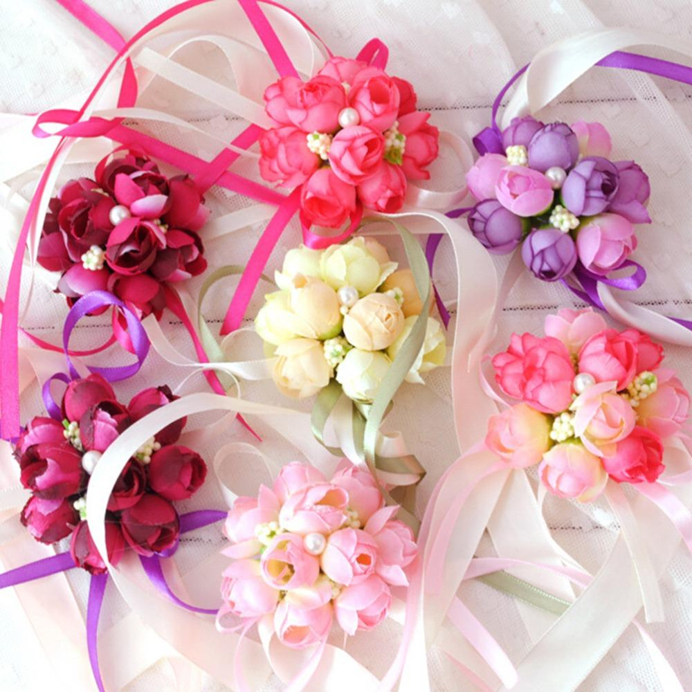 Wholesale Decorative Flowers & Wreaths At $20.39, Get Rose Wrist ...