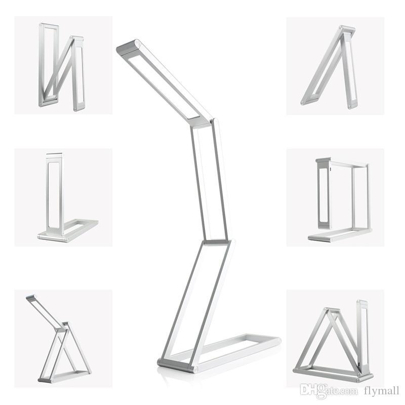 Lampade da scrivania ricaricabili Lampada da tavolo a LED dimmerabile portatile Lampada da lettura Lampada da lettura pieghevole in lega di alluminio lettura Studiare Lavorare