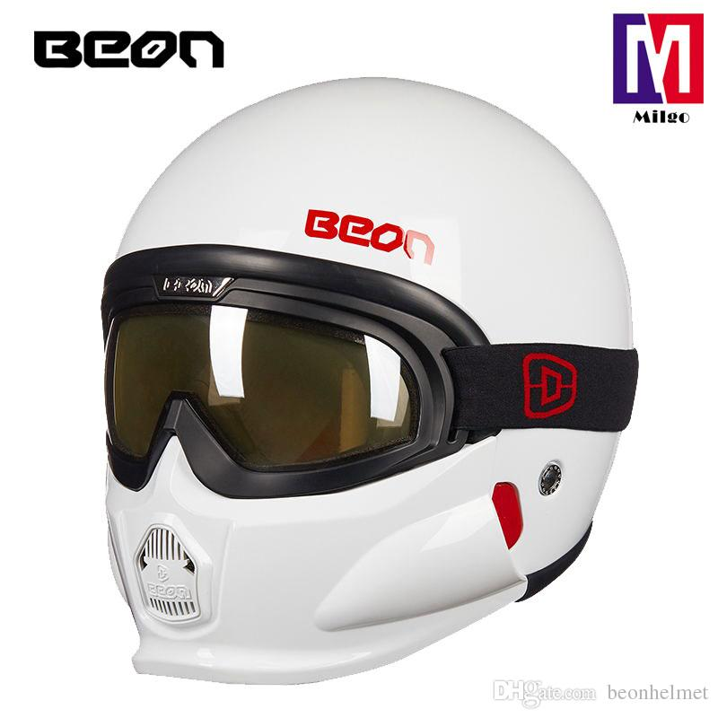 BEON B-703 New style ECE certificated helmet Modular full Open Face Helmet Motor cycling Helmets with google & chin guard