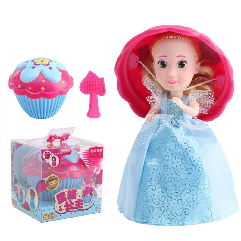 2018 Cupcake Surprise Scented Princess Dolls Toys Reversible Cake Transform to Mini Princess Dolls Mix Colors For Baby girls Gifs