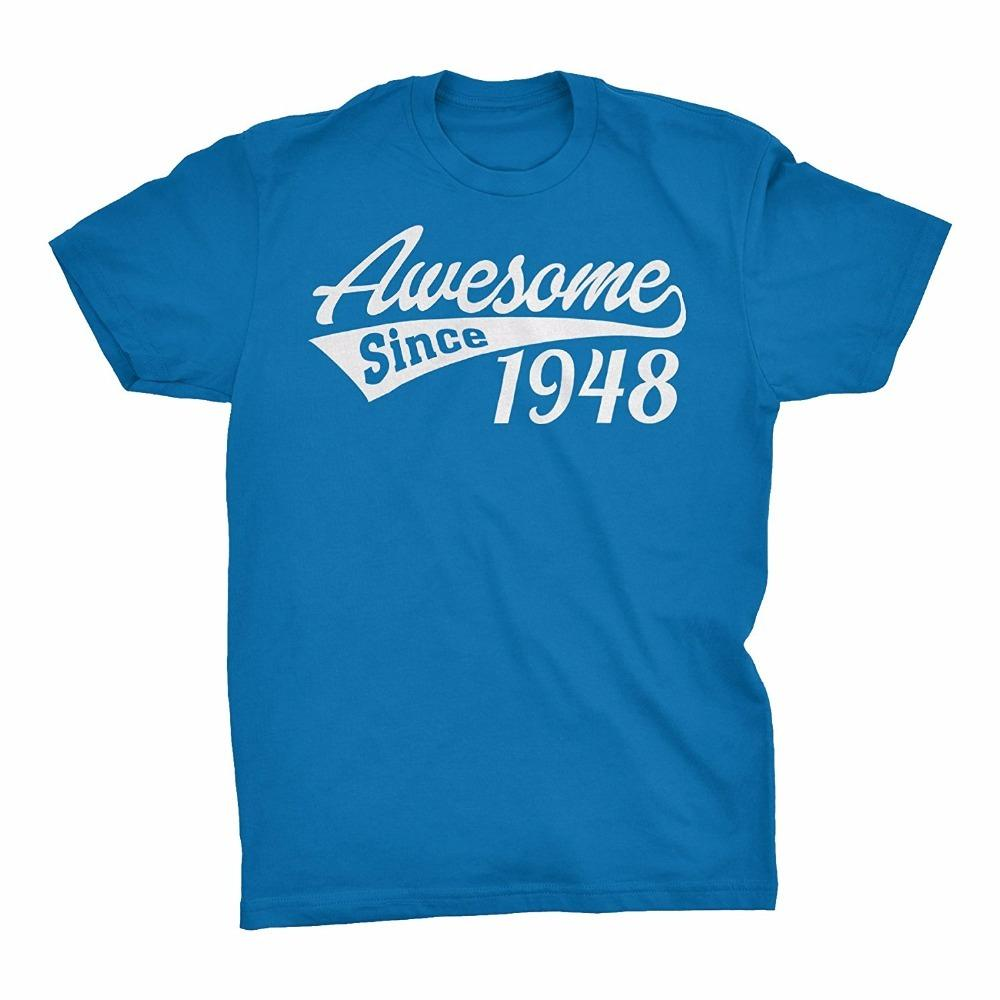 Custom T Shirts Cheap Awesome Since 1948 70th Birthday Gift T Shirt