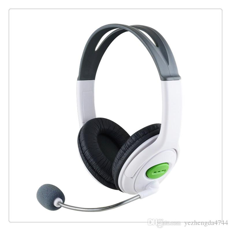 Big Gaming Chat Headset Headphone with MIC Microphone Dual overhead phones  for stereo sound quality for Xbox 360 White