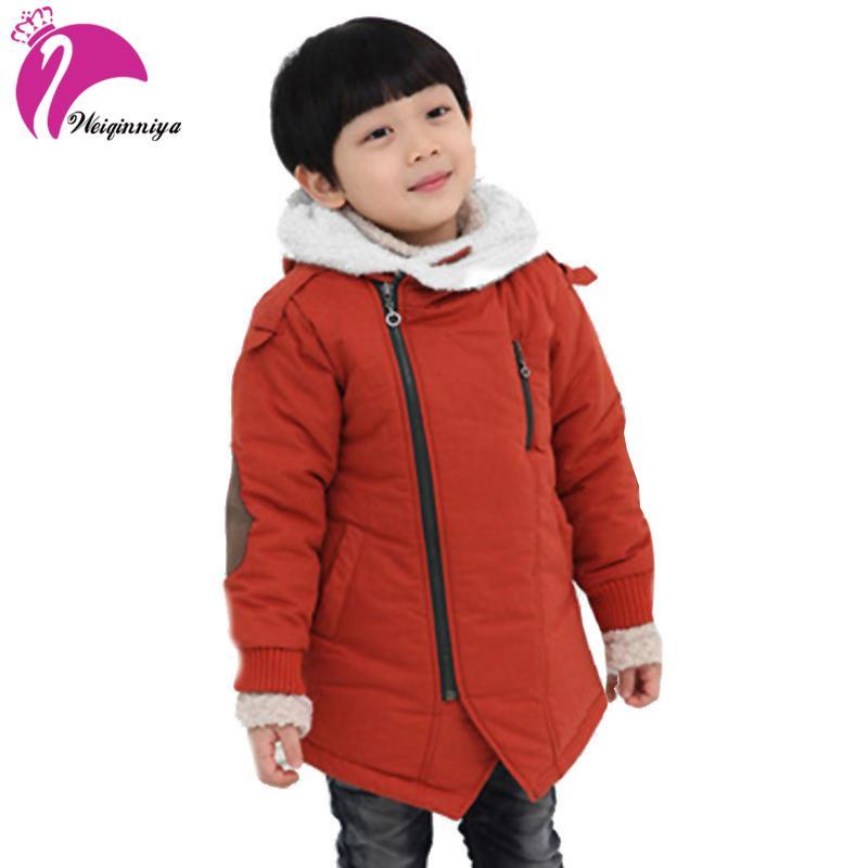 81dcced63b06 Childrens  Jacket Fashion Winter Jacket Boy Add Cotton Cashmere Warm ...