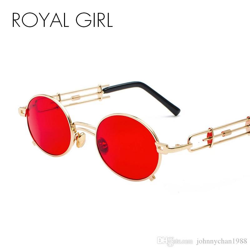 461246b6c2 ROYAL GIRL Steampunk Sunglasses Men Women Brand Designer 2018 Retro Metal  Eyeglasses Round Sun Glasses Vintage Shades Ss103 Wholesale Sunglasses Cool  ...