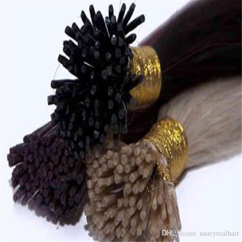 Elibess sopa Ben İpucu İnsan Saç Uzantıları 1G Strand Brezilyalı Düz dalga Keratin saç uzatma, seçeneği için 8 renk
