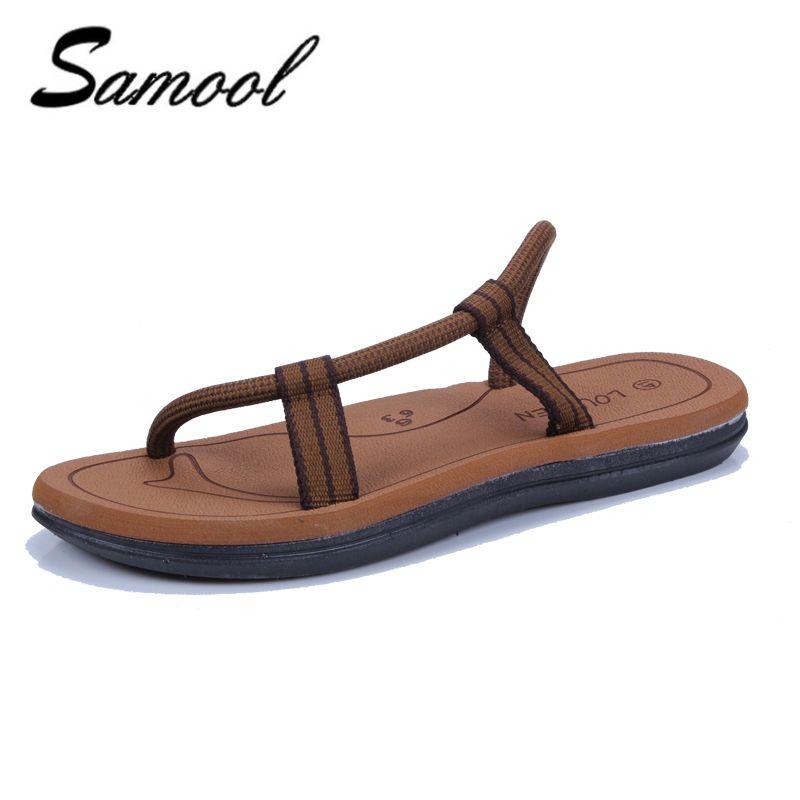 9c34761e1c2 Spring Summer Men S Shoes Casual Flip Flops Cross Rope Llops Beach Slippers  Men Sandals Soft Bottom Slippers Shoes Men 1D1 High Heel Shoes Wholesale  Shoes ...
