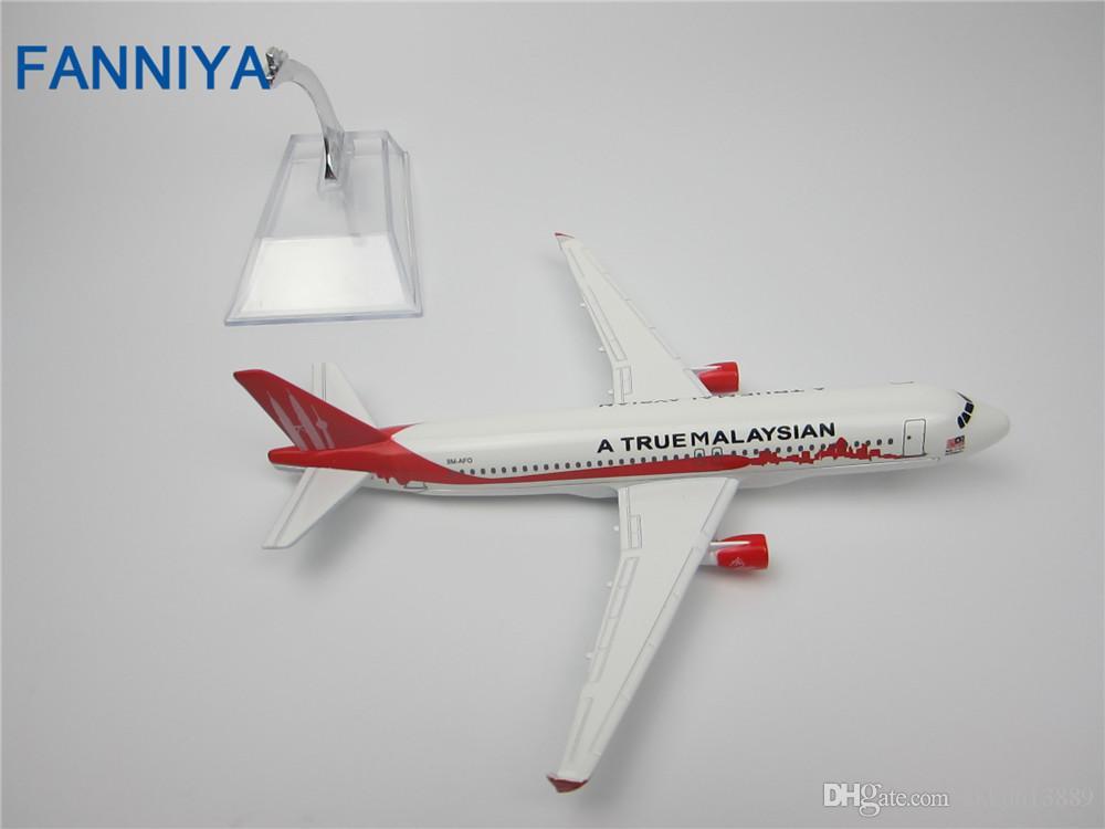 Nouvelle vente chaude 1: 400 A Vrai MALAYSIAN Airbus 320 16 cm alliage métal modèle avion enfant cadeau d'anniversaire avion modèles chiristmas cadeau