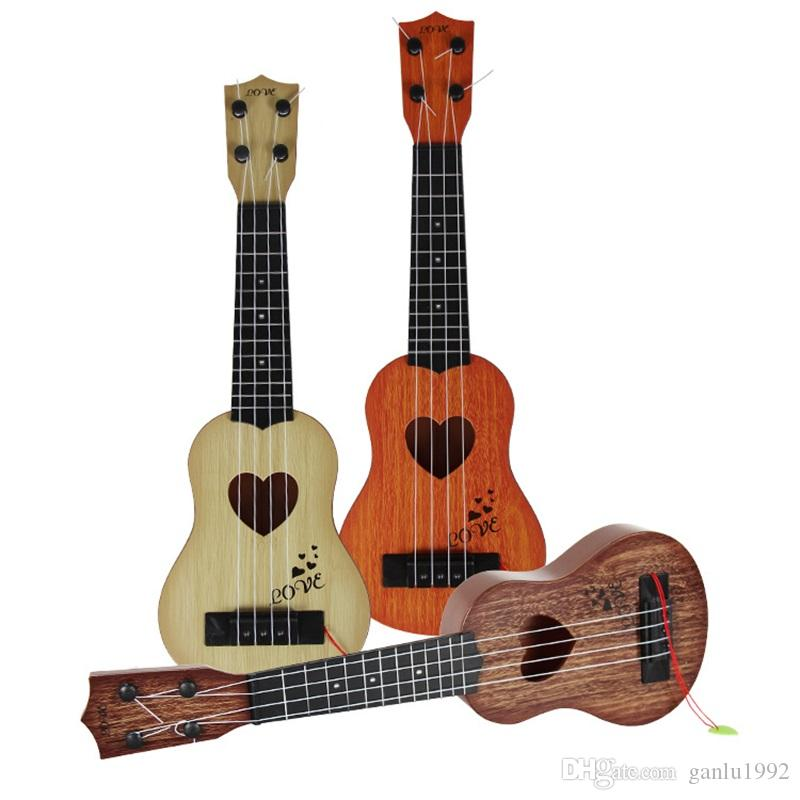 Mini 4 Strings Guitar Children Toy Gift Ukulele Early Musical Education Toys Multi Color 6 4yf C R