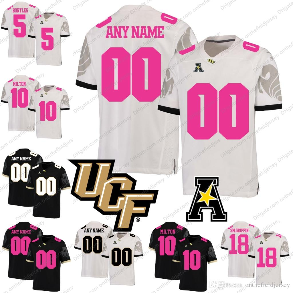 cfe785a92 Custom UCF Knights Mother Days Pink NCAA College Football Jersey Any ...