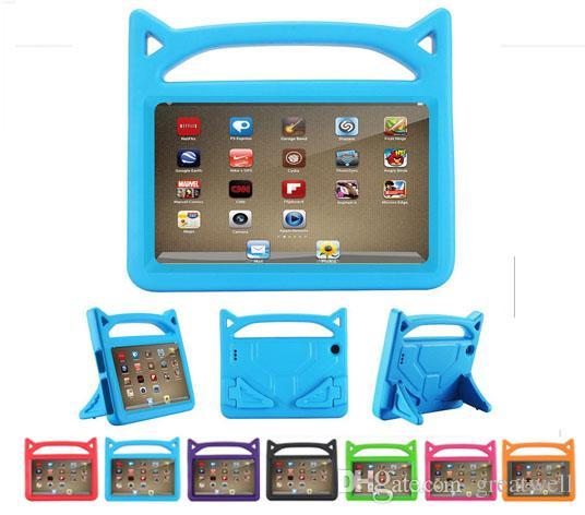 c08ca1069d03 Kids Handle EVA Foam Shock Proof Kid Proof Tablet Cover For IPad Mini 123/4  Air 5/6 New Ipad 2017/2018 Kindle Fire 7 Cute Devil China Handbag Cheap 7  Tablet ...