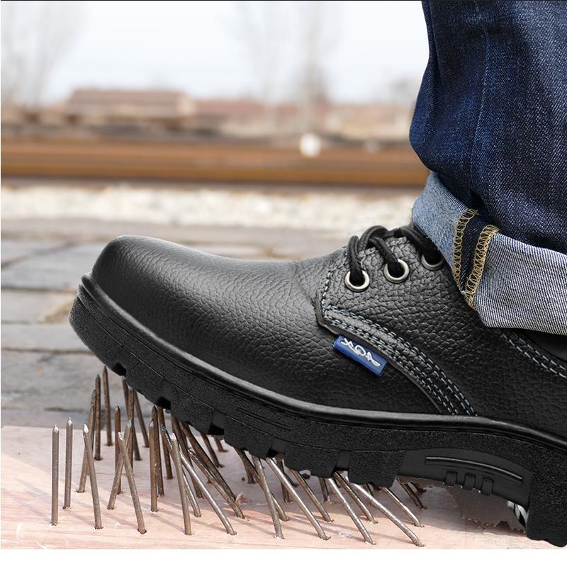 3b4569d0c Compre Homens Sapatos De Segurança De Trabalho De Aço Dedo Do Pé Dos Homens  Respirável Botas Casuais Punção À Prova De Trabalho Seguro Sapatos De Grande  ...