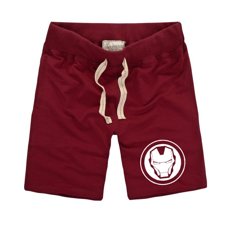 Impreso Clothing De Cortos 2018 Marvel Iron Man Brand Hombre American Fitness Style Pantalones Para gvIYbmf6y7