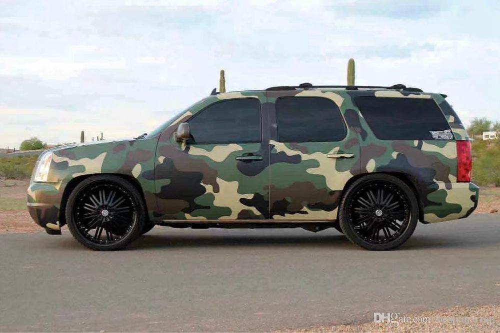 Large Forest Green Camouflage Camo Vinyl For Car Wrap