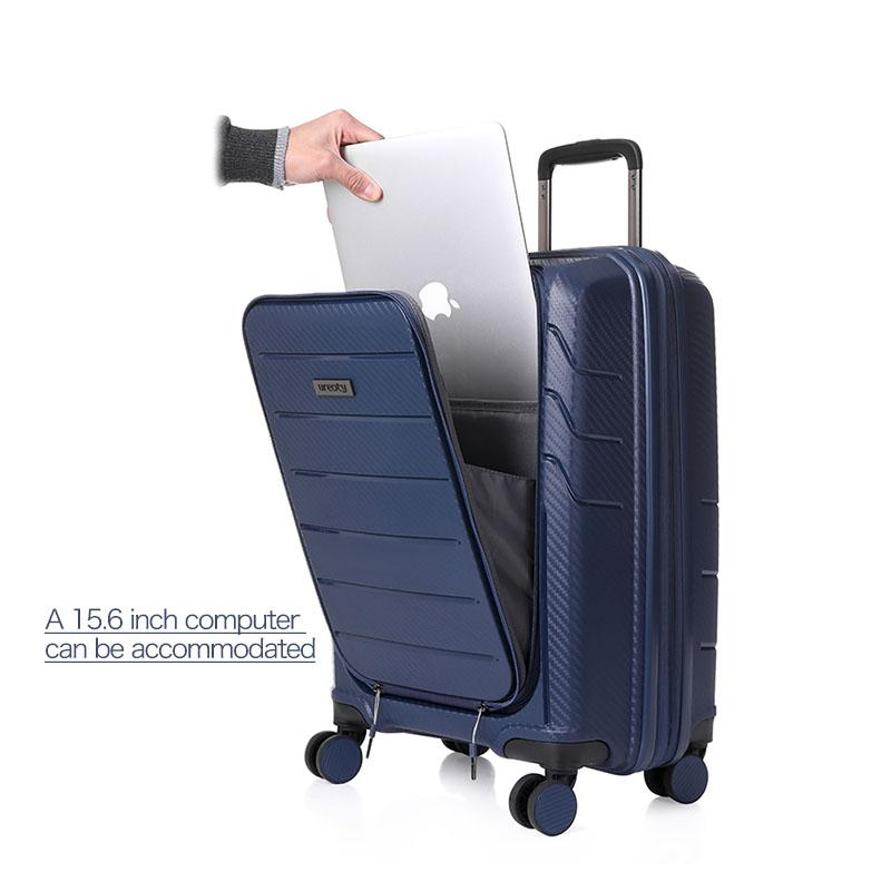 de51295533b2 2018 NEW travel high quality luggage business PVC material suitcase rolling  spinner wheels luggage 4 four colors free shipping