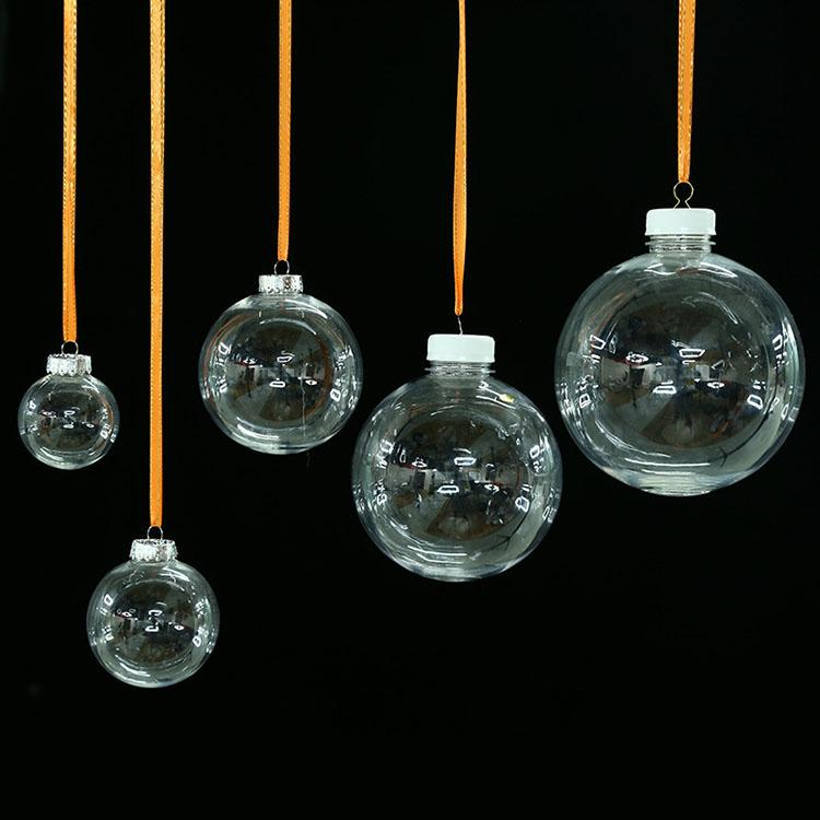 diy transparent christmas ball plastic christmas decoration plastic ball decoration creative party pendant childrens gifts af 9846 transparent christmas - Plastic Christmas Balls