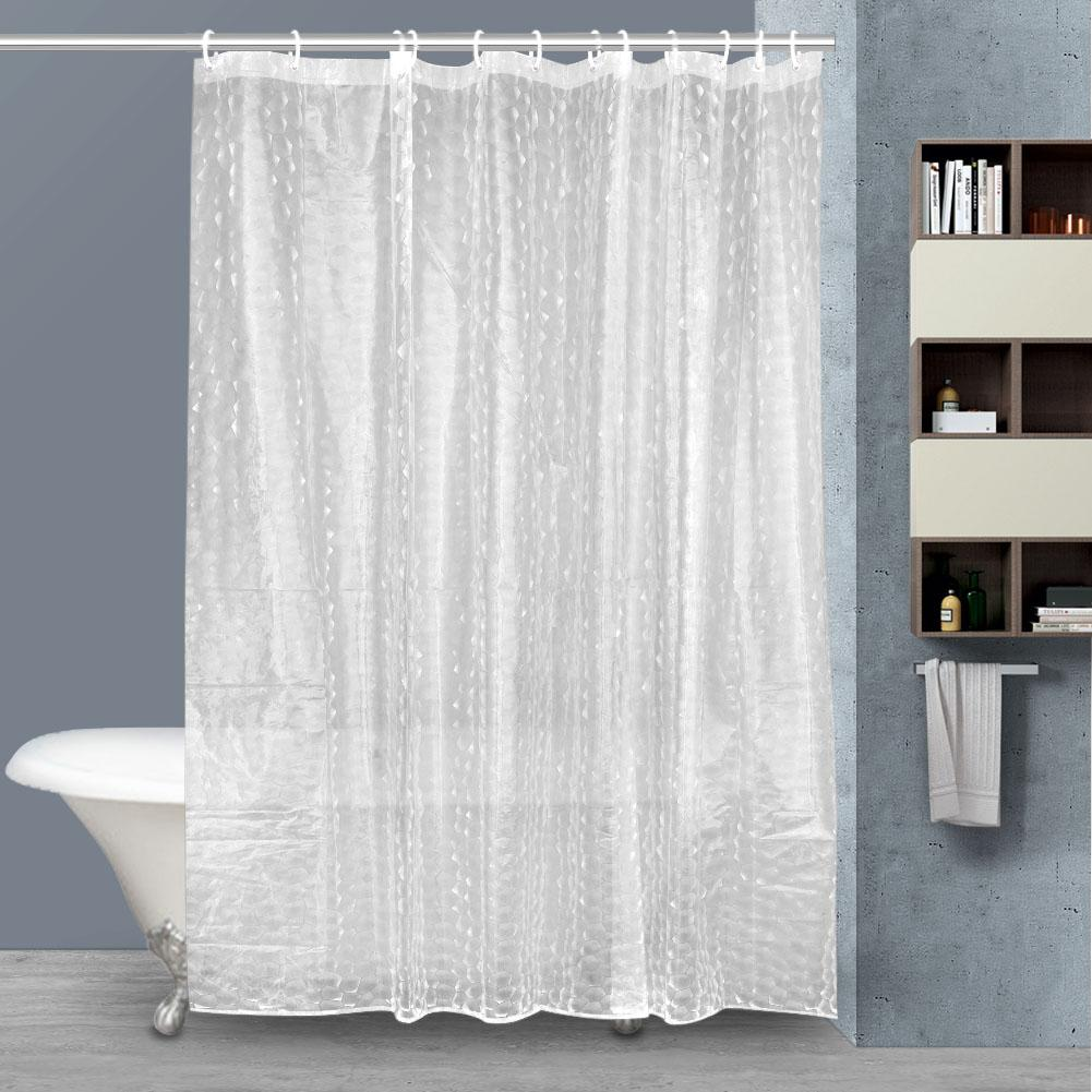 2019 Shower Curtain Eco Friendly Thick Clear Liner EVA Plastic Mildew Proof 3D Water Cube Bathroom Curtains Hogard From Hariold 3848