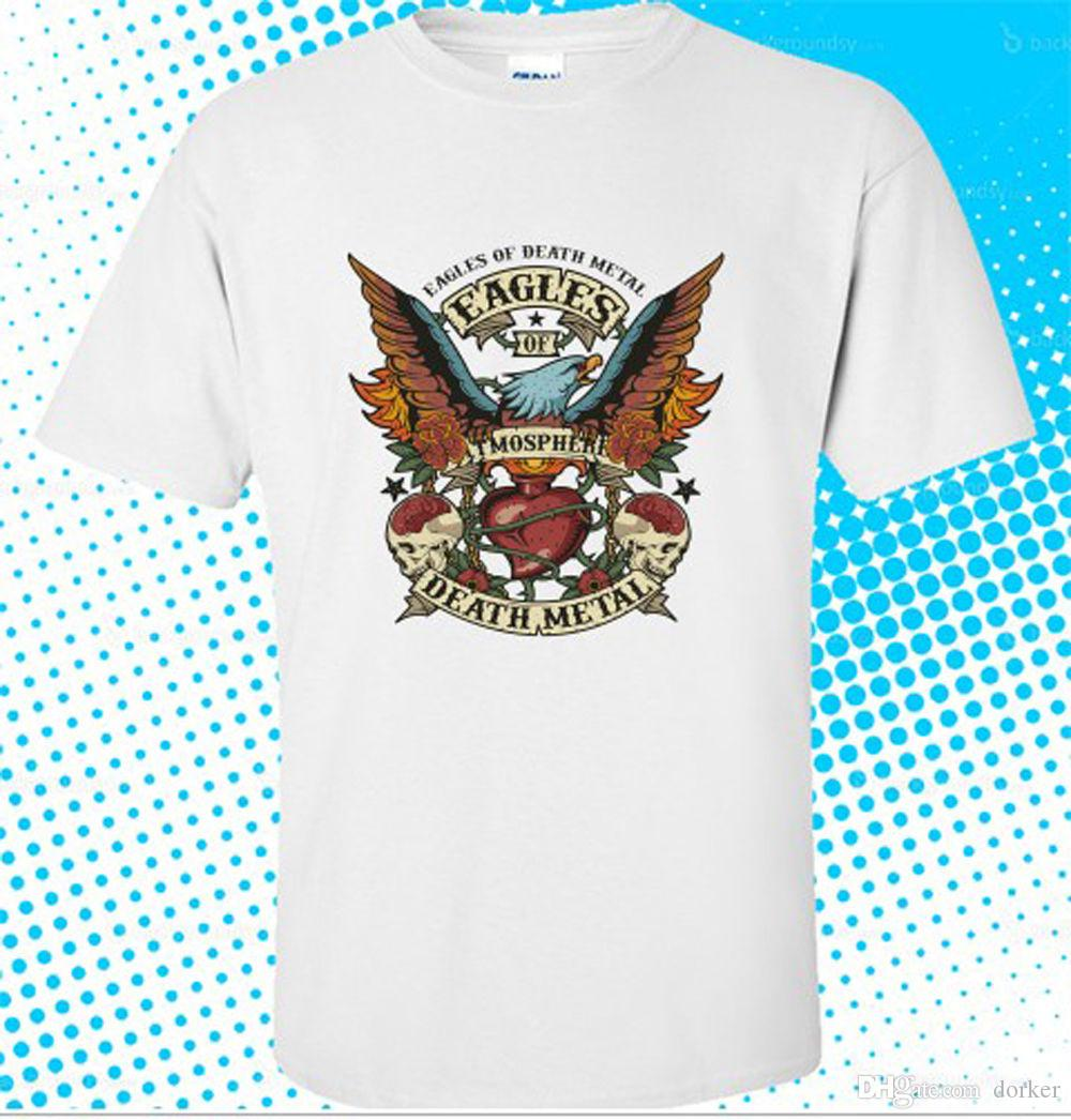 ddb7f887 New Eagles Of Death Metal Rock Band Logo Men's White T shirt size S to 3XL  Man T Shirt Round Collar Tees