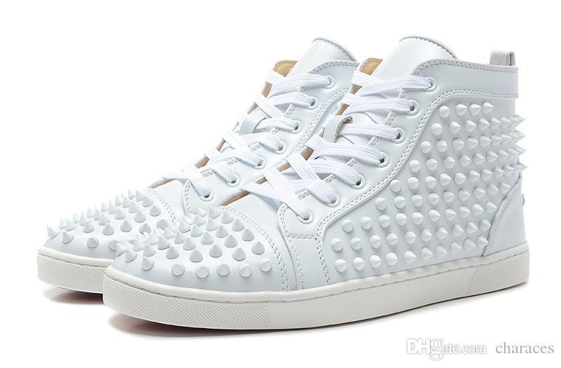 e18e64fe77bf2b Size 35-47 Women Men Shoes Brand Designer Full Spike And Genuine ...