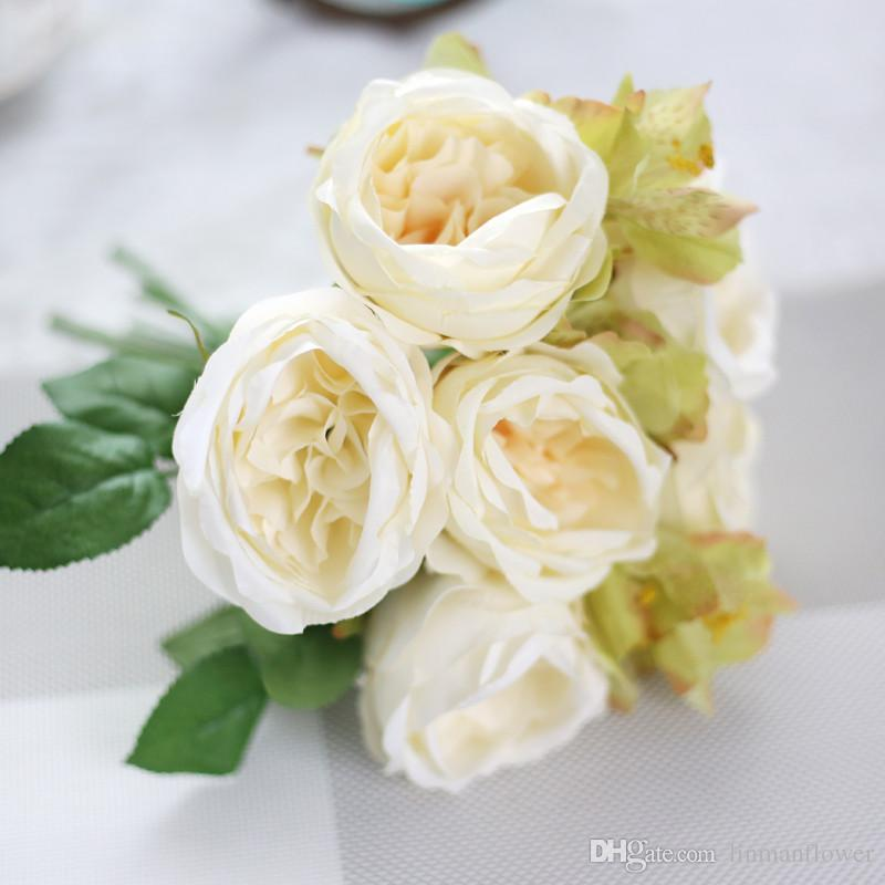 2019 25cm Rose Lily Bouquet For Wedding Celebration Supplies The