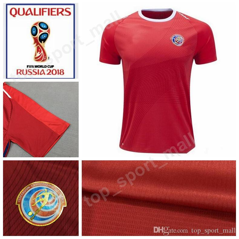 2018 World Cup Soccer Costa Rica Jersey Men Home Red Away Thailand ... 66d8085fb