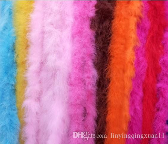 2m / pc Abbigliamento Accessori Turchia Fluff Multi Color Strip Boa Fluffy Happy Birthday PaFluffy Boa Birthday Party Decorazioni di nozze Forniture