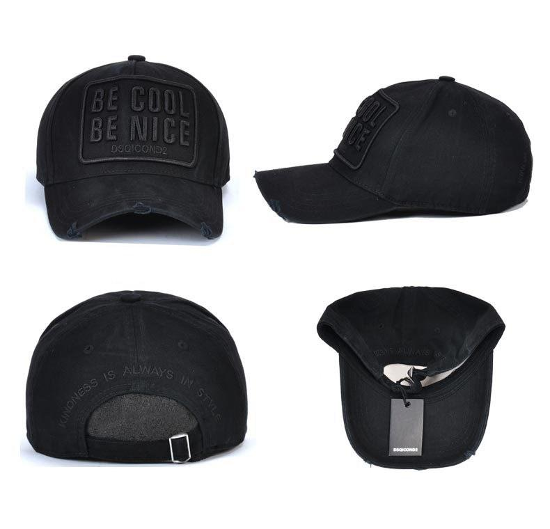 DSQICOND2 Strapback Caps High Quality Embroidery Letter Cotton Baseball Cap  Casual Hip Hop Snapback Cap 2018 New ICON Cap D2 Outdoor Dad Hat Flat Brim  Hats ... 07954e35a31f