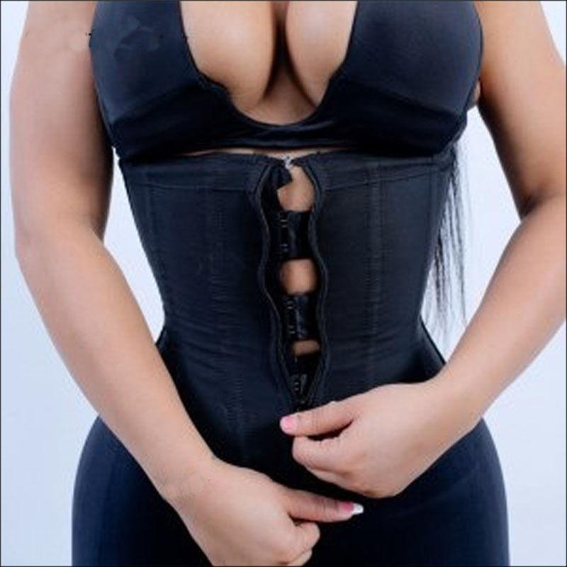 eeb5d521d0 2019 Miss Moly Women Waist Trainer Strap Corset Top With Zipper 3 Hook  Tummy Control Full Body Shaper Waist Cincher Slimming Trimmer From  Glass smoke