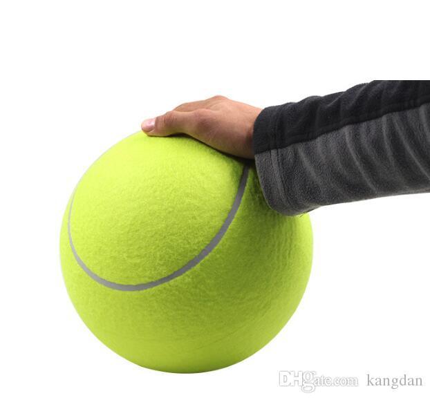 24 CM Büyük Şişme Tenis Topu Dev Tenis Topu Köpek Chew Oyuncak Imza Mega Jumbo Çocuk Oyuncak Top Açık köpek eğitim topları Wholesal