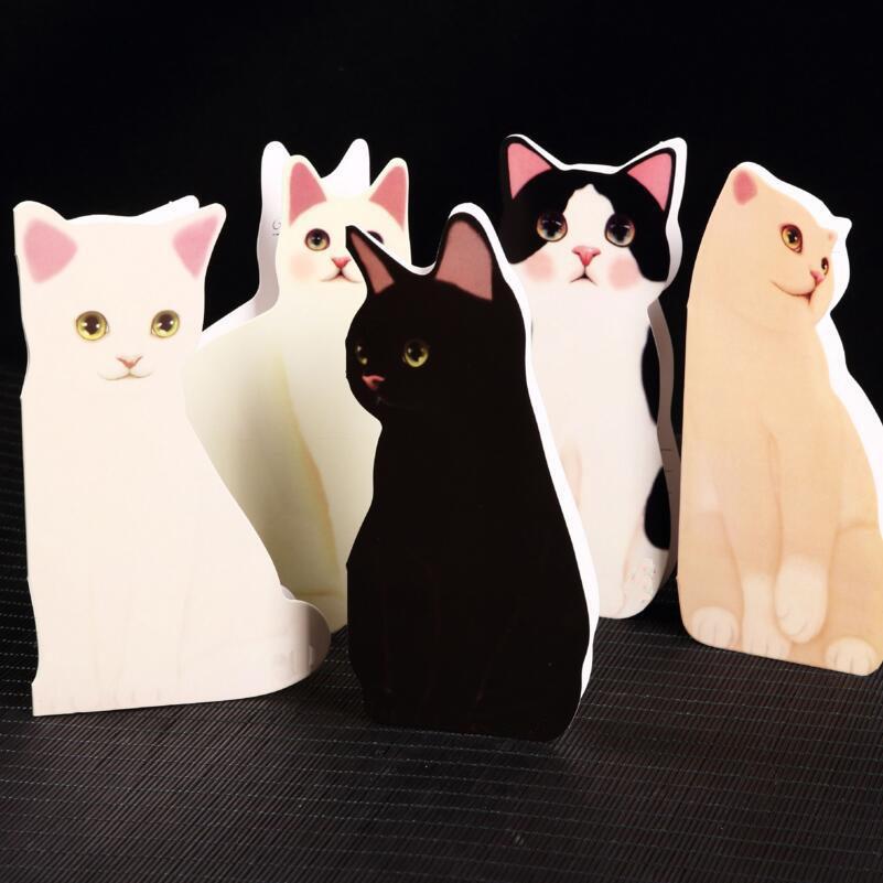 Cute Cartoon Cat Paper Craft Standing Card Greeting Cards Postcard Christmas Birthday Gift Free E Greetings Funny From