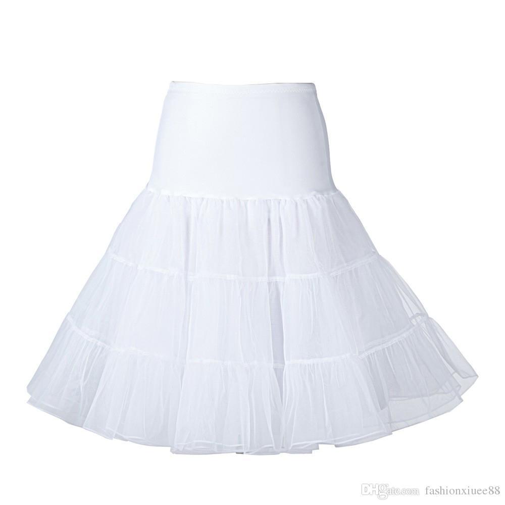 bb1d1a0b3d Hot Sale Short Organza Petticoat Crinoline Jupon Vintage Wedding Bridal for  Wedding Dresses Underskirt Rockabilly Tutu