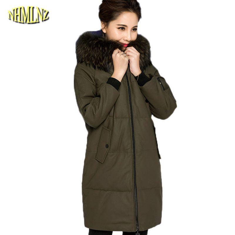 61cb73ca03f 2019 Winter Women Jacket 2018 High Quality Comfortable Hooded Genuine  Leather Coat Fashion Fur Collar Long Slim Sheepskin Coat WK280 From  Sweet59