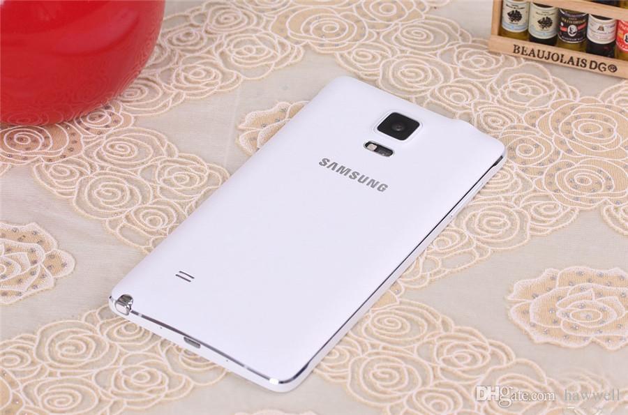الأصلي تجديد سامسونج غالاكسي ملاحظة 4 N910F 5.7 بوصة رباعية النواة 3GB RAM 32GB ROM 16MP 4G مفتوح الهاتف DHL محفظة