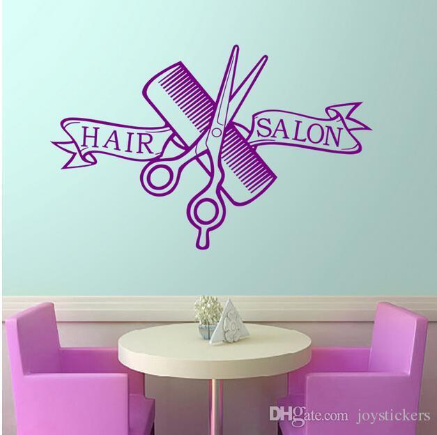 Saç Salon Kuaför Dükkanı Sticker Makas Clipper Kuaför Çıkartması Nötr Saç Kesimi Posteri Vinil Duvar Dekoru Windows Dekorasyon 37 * 58 // 58 * 91 cm
