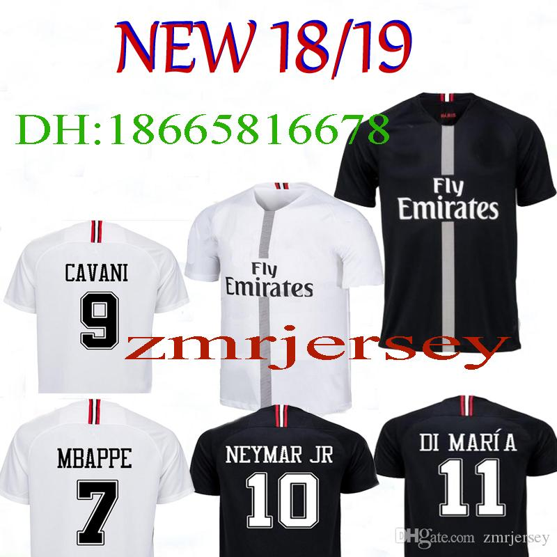 3ffa48ce3 2019 New PSG NEYMAR JR MBAPPE Shirt T SILVA CAVANI DI MARIA 2018 2019  Champions League Neymar Jr Jersey Sports DANI Football Soccer Jerseys From  Zmrjersey