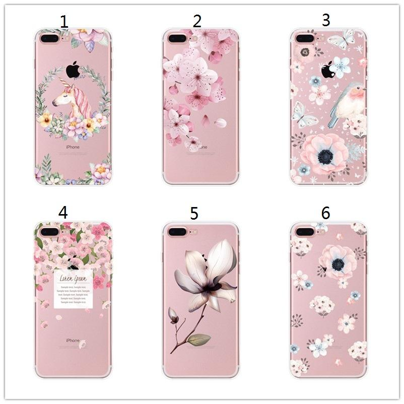 various colors 74df6 f828d Beautiful Floral Cherry Blossom Case Cover For Iphone 7 8 6 6S 6Plus ...