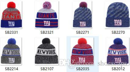 a43854a1 Discount Sport Knit hat Giants Beanie NY Sideline Cold Weather Sport knit  HAT beanies winter Warm Knitted Wool Skull Cap