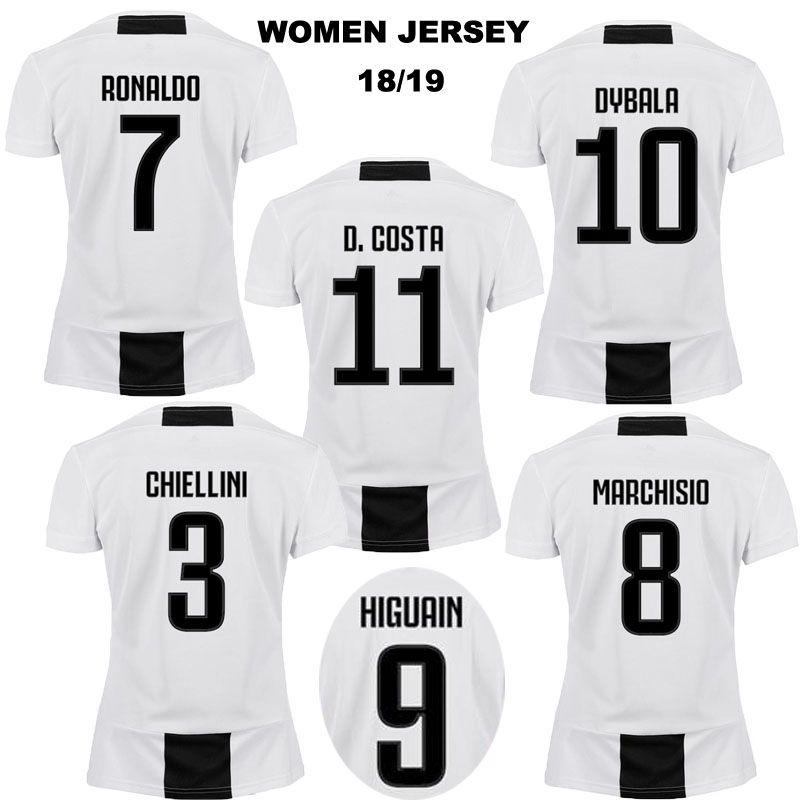bedd954b21e Women Juventus Home Soccer Jerseys 18 19 Juventus #7 RONALDO Women ...