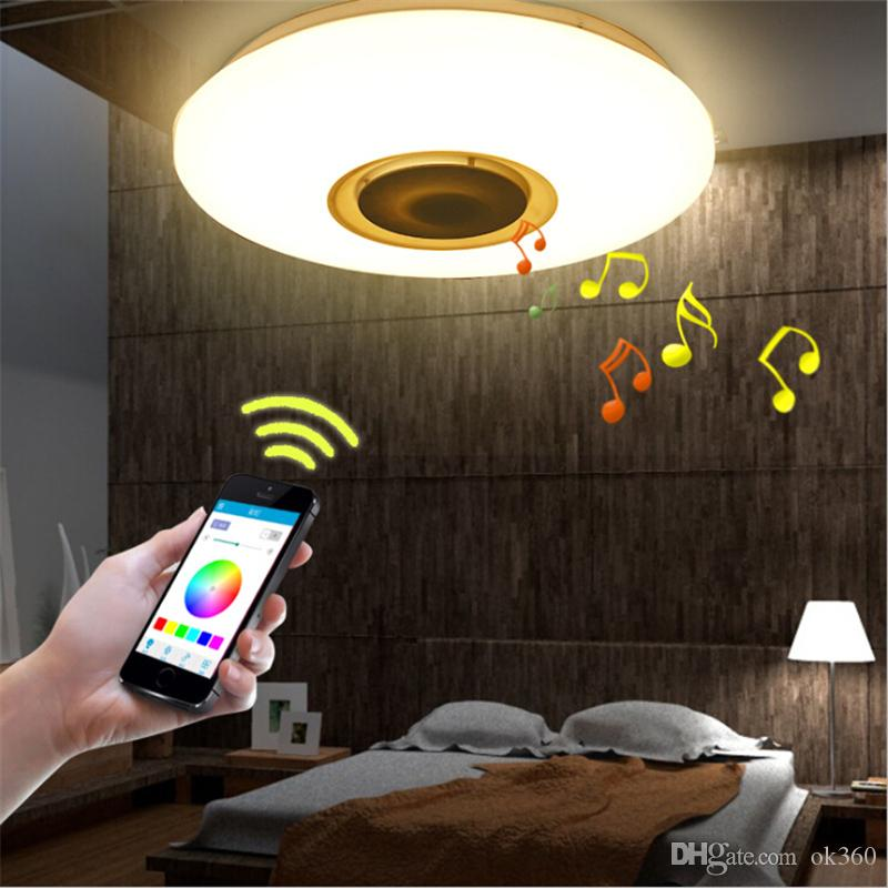 Music LED ceiling Light with Bluetooth control Color Changing Lighting flush mount Smart LED lamp for bedroom ceiling light fixtures