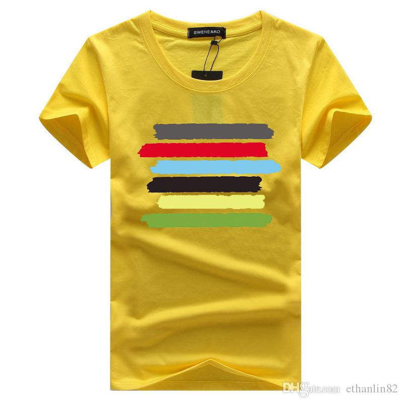61c1f85b55f T Shirt Men Brand Clothing Summer Cotton Colorful Printed Stripes T Shirt  Mens Casual Tshirt Male Short Sleeve Plus Size 5XL Funky T Shirts Online  Shirts ...