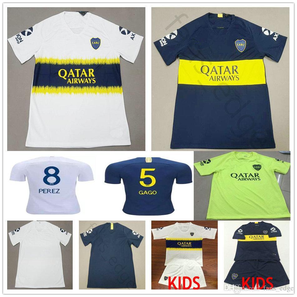 241c6e117 2018 2019 Boca Juniors Soccer Jersey 8 Perez 5 Gago Benedetto 7 ...