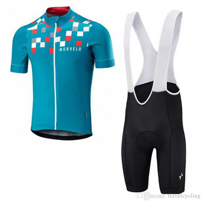 5e66480f4 Morvelo 2018 Men Summer Cycling Jersey Sport Suit Mountain Bike Maillot Tour  De France MTB Bib Shorts Set Bicycle Clothing 82107Y Cycling Outfit Baggy  ...