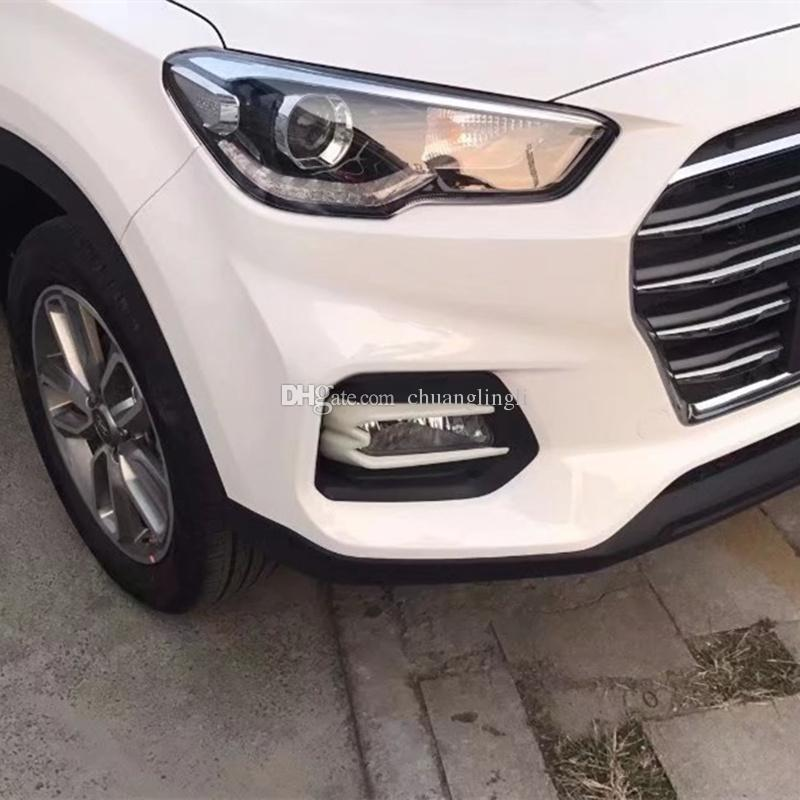 For Hyundai ix35 2018 Front and Rear Fog Light Lamp Cover Trim Foglight Frame Protector Chrome Car-Styling Accessorie