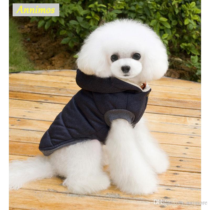 2020 Mascotas Perros Cachorros ropa de invierno caliente gruesa de las capas chaquetas sudaderas de alta calidad de Parkas Ropa de Chihuahua Yorkshire peluche Apperal
