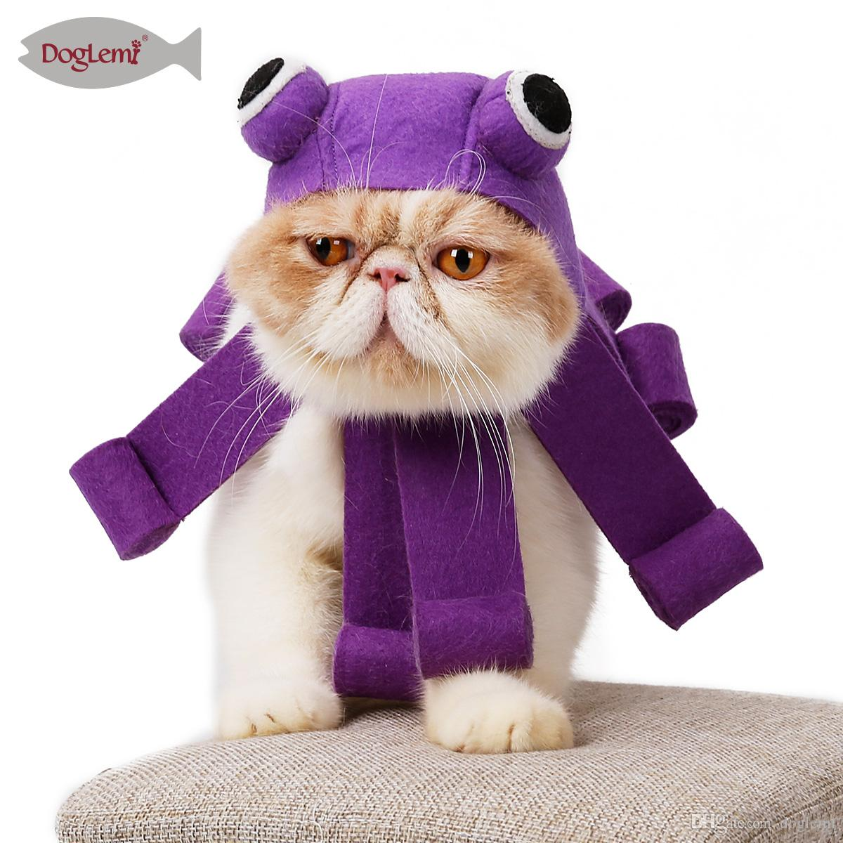 Doglemi Octopus Design Cat Cosplay Hat Halloween Christmas Pet Cat