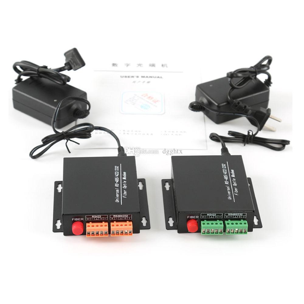 Data Fiber optical Media Converters Tx Rx RS485/422/232 Data over Fiber up  20Km