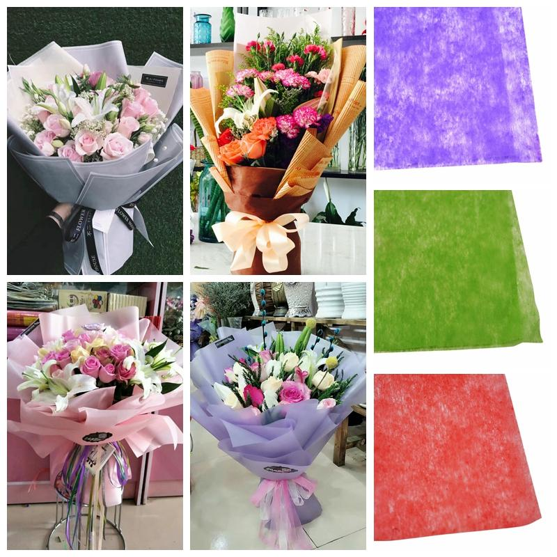 50 50cm Paper Bouquet Wrapping Crepe Paper Flower Christmas Gift Packing Material Wedding Decorations Paper Free Shipping 10 Sheets