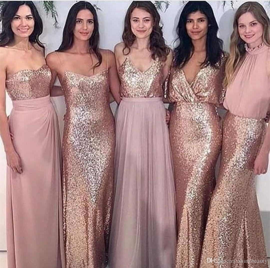 Beautiful Gold Wedding Dresses: 5 Kinds Of Styles Sexy Beautiful Shiny Wedding Dresses