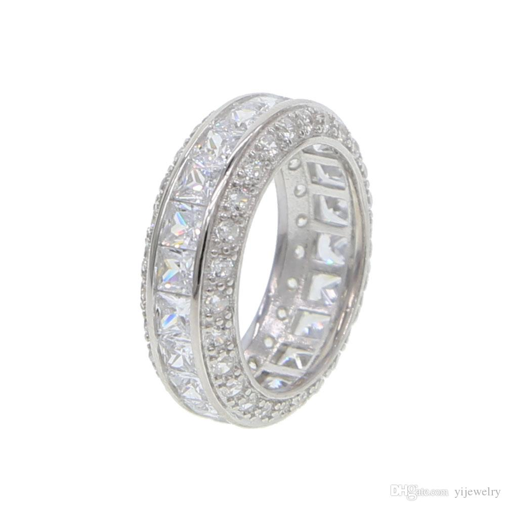 925 Sterling Silver Cz Eternity Band Ring Engagement Band Sparking Bling  AAA Cubic Zirconia Wide Women Boy 925 Silver Jewelry UK 2019 From  Yijewelry 96e1eafced